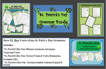 St. Patrick's Day Fun:  Grammar and Word Bundle