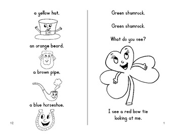 St. Patrick's Day Fun Book - Green Shamrock, Green Shamrock