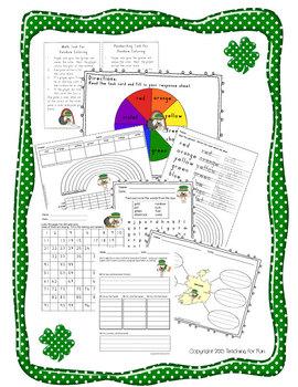 St. Patrick's Day Fun (K1) Science,Math,Reading, Social Studies, & Writing