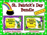 St. Patrick's Day: Magical Leprechaun Math BUNDLE/ Smart Board and Printables