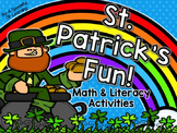 St. Patrick's Day Fun! Math, Literacy, & Writing Activities!