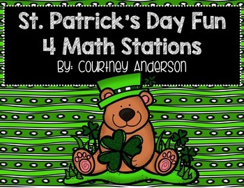 St. Patrick's Day Math Centers with Double & Triple Digit Addition & Subtraction