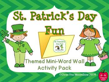 St. Patrick's Day Fun Mini-Word Wall Activity Pack