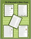 St. Patrick's Day Fun:  Rhymes, Synonyms, Antonyms, Nouns and Verbs
