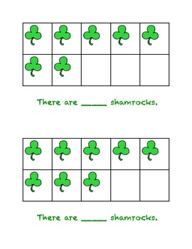 St. Patrick's Day Fun - Ten Frames, Dice & Tracing!