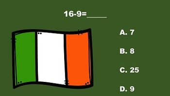 St. Patrick's Day Fun With Addition/Subtraction PowerPoint Game