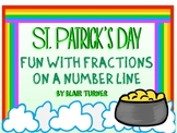 St. Patrick's Day Fun With Fractions on a NUMBER LINE