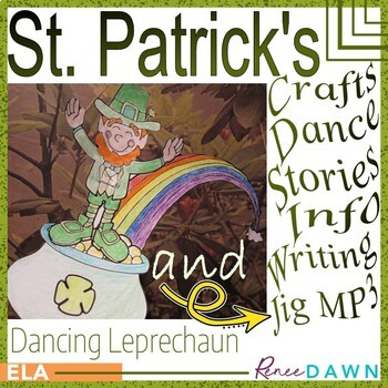 St. Patrick's Day Crafts, Activites, Irish Jig MP3 BUNDLE