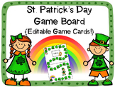 St. Patrick's Day Game Board {Editable!}