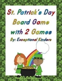 St. Patrick's Day Game Board with 2 Card Sets