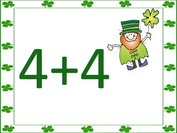 St. Patrick's Day Math Game Cards (2 games in 1)