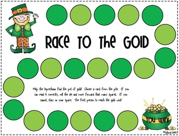 St. Patrick's Day Game Pack - Math & Literacy