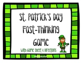 St. Patrick's Day Game: Scattergories Grades 3-12 {Great Literacy Center}