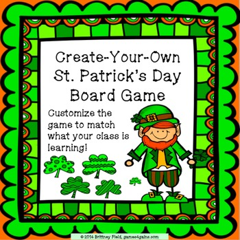 St. Patrick's Day Game: Customizable St. Patrick's Day Activity