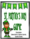 St. Patrick's Day Game- Taboo: Great for literacy centers or whole class