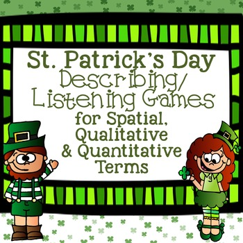 St. Patrick's Day Games for Spatial, Descriptive, and Quantitative Terms
