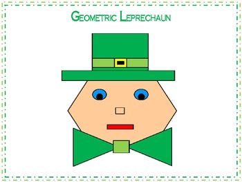 St. Patrick's Day Geometric Leprechaun 2D Shapes