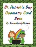 St. Patrick's Day Geometry Card Sets