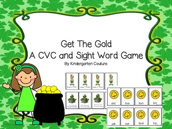 St. Patrick's Day Get The Gold CVC Card Game