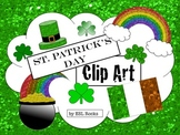 St. Patrick's Day Glitter Clip Art Irish Digital ClipArt ESL