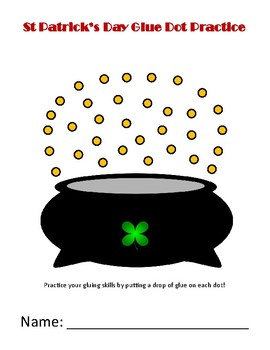 St Patricks Day Glue Dot Practice