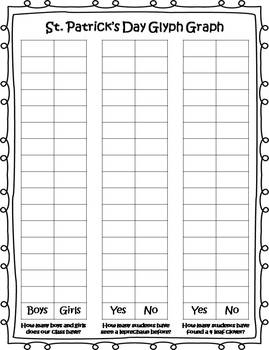 St. Patrick's Day Glyph, Graph & Writing Activities