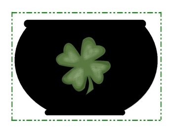 St. Patrick's Day Gold Coin Drop and Add Math Center Activity