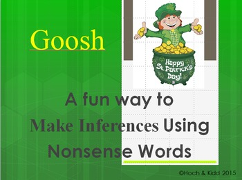 St. Patrick's Day Goosh - Making Inferences & Using Context Clues