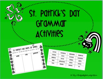 St. Patrick's Day Grammar Activities