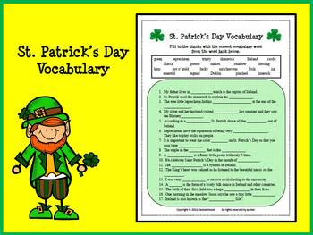 St. Patrick's Day:  Grammar, Vocabulary & Idioms