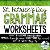 St. Patrick's Day Grammar Worksheets