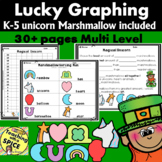 St Patricks Day Math Lucky Graphing with Unicorn Marshmall