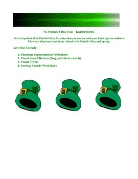 St. Patrick's Day - Great Kindergarten Activities
