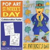 Leprechaun Collaboration Door Poster - Great St. Patricks Day Activity