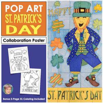 Leprechaun Collaboration Door Poster - Great St. Patricks Day Activity