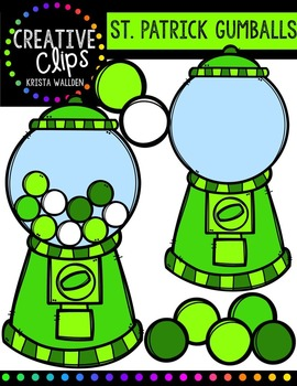 St. Patrick's Day Gumballs {Creative Clips Digital Clipart}