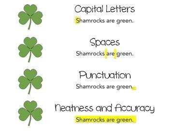 St. Patrick's Day Handwriting Practice