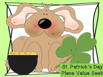St. Patrick's Day Hidden Number Place Value