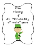 FSA PREP - FSA Reading - 5th and 4th grade - St. Patrick's Day-History-