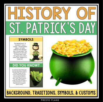ST. PATRICK'S DAY HISTORY PRESENTATION