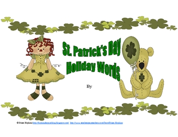 St. Patrick's Day Holiday Words