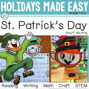 St. Patricks Day - Holidays Made Easy (Leprechaun Reading, Writing, Craft, STEM)