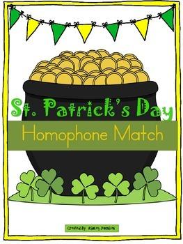 St. Patrick's Day Homophone Match