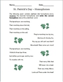 St. Patrick's Day - Homophones