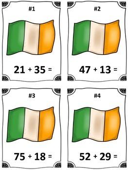 St. Patrick's Day Horseshoe Subtraction Math Center (Common Core)
