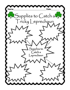 St. Patrick's Day How to Catch a Leprechaun Writing Unit