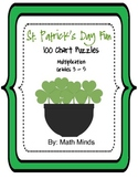St. Patrick's Day Hundred Chart Puzzles:  Multiplication