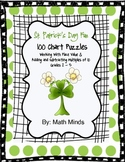 St. Patrick's Day Hundred Chart Puzzles:  Place Value
