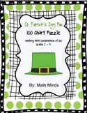 St. Patrick's Day Hundred Chart Puzzles:  Working with Combinations of 100