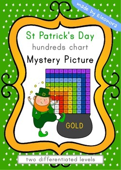 St Patrick's Day Hundreds Chart Mystery Picture - differentiated
